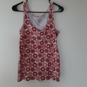 Faded Glory pattern tank top XL